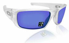 Oakley Crankshaft Men's Polarized Rectangular Sunglasses - Matte Clear/Violet Iridium