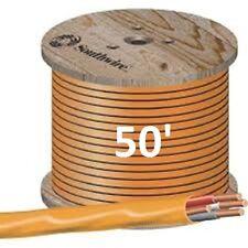 "10/3 NM/B (50') ""ROMEX"" Non-Metallic Jacket, Copper Electrical Wire, 4 Wire"