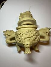 Norleans Resin Dragon Censer Chinese Style Hand Made in Italy