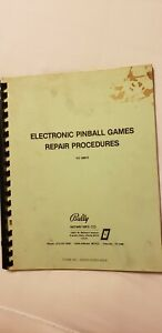 1981 Bally Electronic Pinball Games Repair Procedures FO560-3 Originial Arcade