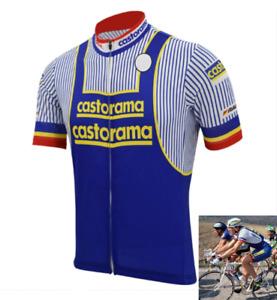 Maillot Castorama Laurent Fignon Cycliste Rétro Vintage Classic  Tour de France