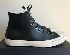 Men's Converse All-Star High Top Black/Driftwood Leather Sneakers New! | sz 10.5