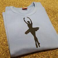 Girls Ballet top warm up long sleeve blue (Crossover ballerina)Dance RAD ISTD CC