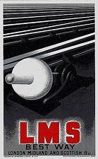 Original vintage poster print LMS BRITISH RAIL 1928 Cassandre