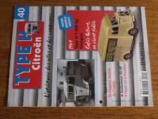 $$$ Fascicule Type H Citroen N°40 Type H 1200kg FourgonType H GruauAmbulance