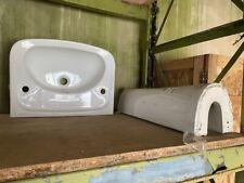 Replica Barrhead Iona 550mm basin and pedestal in White by Vitra