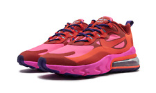 Nike Air Max 270 React (Womens Sizes) Shoes AT6174 600 Mystic Red Pink Blast