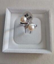 Anello donna argento 925, perle avorio e zirconi 16  San Valentino Ring Pearl