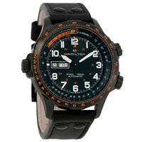 Hamilton Khaki Aviation X-Wind Automatic Mens Leather Watch H77785733
