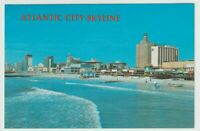 Unused Postcard Atlantic City Skyline New Jersey NJ