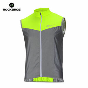 ROCKBROS Cycling Vest Coat Sportswear Breathable Short Jersey Reflective Vest