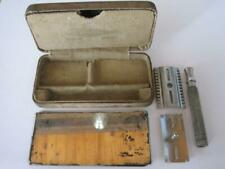 WW1 CANADIAN MILITARY ISSUE GILLETTE RAZOR in KHAKI CASE with MIRROR