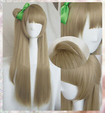 LoveLive! Love Live Minami Kotori Linen Brown Cosplay Hair Wig + Bow Hairpin