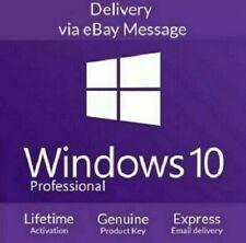Windows 10 Pro Professional 32/64bit Activatio License code Instant Delivery