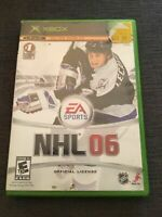 EA SPORTS NHL 06 - XBOX - WORKS ON 360 - MISSING MANUAL - FREE S/H (E)