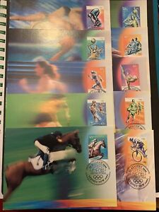 2000 __ Sydney Olympic Games __10x value MAXI CARD set with __ NO_INFO CARD