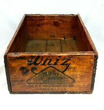 Vintage Whiz Can Crate Advertising Wood Box Auto Top Dressing Gas Oil Antique