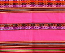 Tischdecke rosa pink bunt, Anden Indio Inka Tragetuch, Peru Manta 110x120 cm