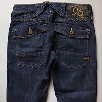 Ladies G-Star ELWOOD CARGO NARROW SLIM DARK BLUE jeans size W27 L34 (605)