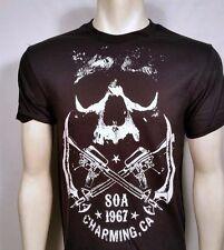 Sons Of Anarchy Soa 67 Cruzado Armas y Calavera Samcro Camiseta Negra S-3XL