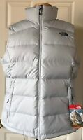 NWT Womens The North Face Nuptse 2 Puffer Vest 700 Fill Down Arctic Ice Blue