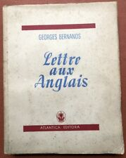 Georges Bernanos / Lettre Aux Anglais One of 32 signed copies 1st Edition 1942