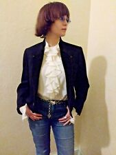 Valentino Boutique vintage 1960s black tuxedo jacket made in Italy