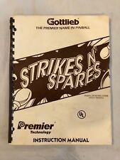 Gottlieb Strikes N' Spares Pinball Manual
