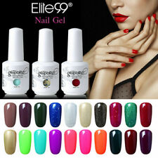 Soak Off Color Gel Nail Polish 15ML Lacquer Top Base Coat Elite99 Manicure Decor