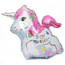 1 pc Aluminum Rainbow Unicorn Foil Balloon Birthday party Decoration Balloons