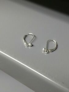 Sterling Silver Leverback Earrings w/ Ball 50 pcs From Closeout !