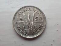 1953 Australian Threepence   (lot 705)