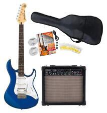 Yamaha Pacifica 012 DBM Starter Set Verstärker Gitarre Kabel Gigbag Pleks Blau
