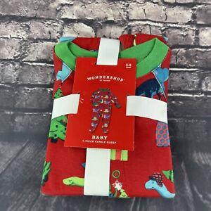 WONDERSHOP 3 6 Month Piece Family Sleep Dinosaur Christmas Pajama