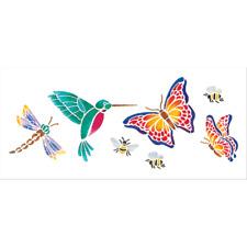 Delta Stencil Sheet HUMMINGBIRD DRAGONFLY BUTTERFLY Reusable Plastic