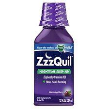 ZzzQuil Nighttime Sleep-Aid Liquid Warming Berry Flavor 12 oz Each