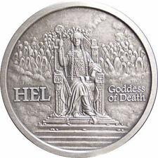 Norse Gods Series Hel - Valkyrie 1 oz .999 Silver Antiqued Finish Round USA Coin