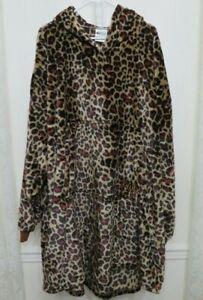 The Comfy Dream Lite Oversized Blanket Sweatshirt Leopard Print One Size