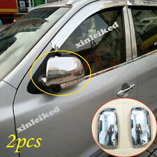 Fit For Hyundai Santa Fe 2009-2012 ABS Chrome Side Door Mirror Cover Trim LED