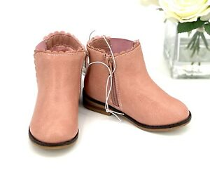 NEW Toddler Girl's Ankle Boots Size 9 Shoe Cat & Jack Ashley Pink Blush Booties
