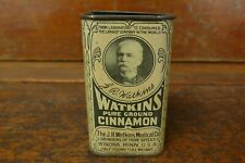 Vintage JR Watkins Medical Co Pure Ground Cinnamon Spice Tin 1/2 Pound Winona MN
