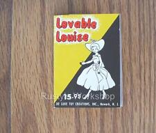 1950's Deluxe Reading LOVABLE LOUISE Booklet/ TAG (Reproduction)