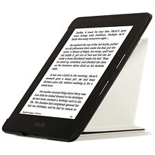 Leather White Smart Origami Case Cover for Amazon Kindle Voyage + Stylus