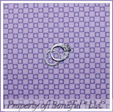 BonEful Fabric FQ Cotton Quilt Purple Polka Dot Block Gingham Stripe Tiny Calico