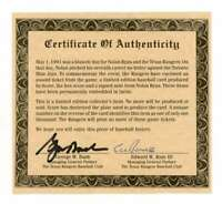George W. Bush Signed Autograph BAS LOA Beckett Authentic Certificate