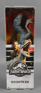 Mattel NEW Jurassic World Velociraptor Blue Action Figure 1084W
