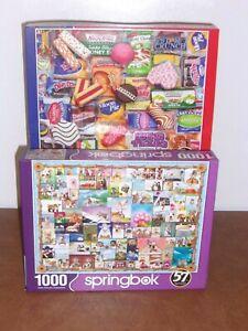 Springbok Animal Quackers + Snack Treats 1000PC Puzzles    Set of 2