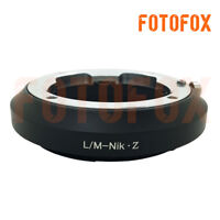 FOTOFOX adapter for Leica LM Zeiss M VM mount lens to Nikon Z mount Z6 Z7camera