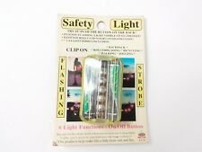 Clip On 6 Function Red Safety Light flashing Strobing Bright LED Light