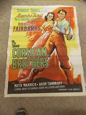 THE CORSICAN BROTHER(1946)DOUGLAS FAIRBANKS JR ORIGINAL ONE SHEET FROM INDIA